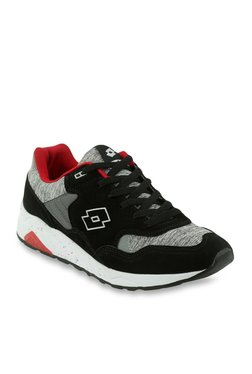 Lotto Corsair Black & Light Grey Running Shoes