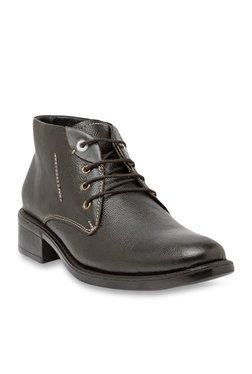 Teakwood Leathers Dark Brown Derby Boots
