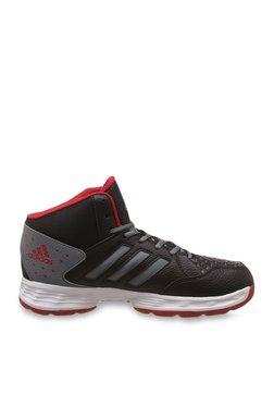 261d2d340880 Adidas Basecut Core Black   Vista Grey Basketball Shoes