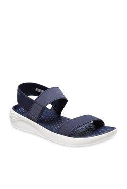 3616e42918d5 Crocs LiteRide Navy Sling Back Sandals