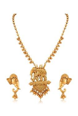 91f06200268 Sukkhi Golden Alloy Bahubali Matte Finished Necklace Set