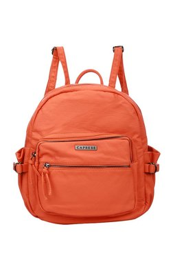 336bfb6f05 Caprese Rihanna Ochre Solid Backpack Best Deals With Price ...