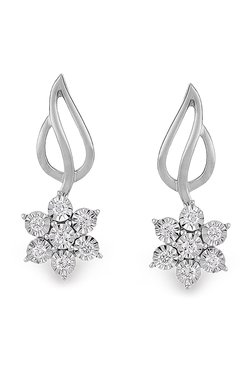 Orra Off Course 950 Platinum 0 25 Ct Diamond Earrings