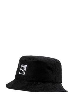 68b2394c9f1b Puma Archive Black Solid Cotton Bucket Hat