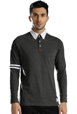 Hubberholme Black Button Down Collar T-Shirt