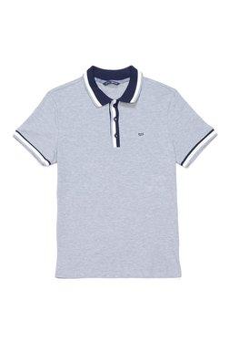 Gas Grey Cotton Lycra Polo T-Shirt RALPH/S RIB SS.