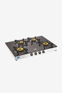 Glen GL 1048 GT AI 4 Burner Automatic Gas Stove (Black)