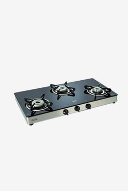 Glen GL 1038 GT 3 Burner Gas Stove (Black)