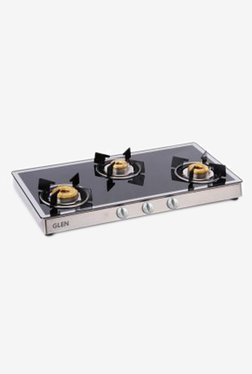 Glen GL 1038 GT Forged BB 3 Burner Gas Stove (Black)