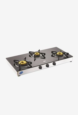 Glen GL 1038 GT Forged 3 Burner Automatic Gas Stove (Black)