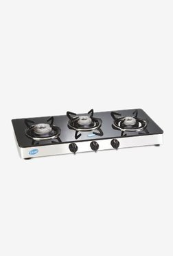Glen GL 1033 GT 3 Burner LPG Gas Stove (Black)
