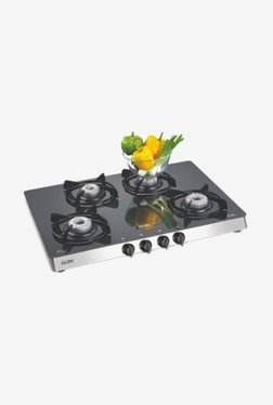 Glen GL 1048 GT 4 Burner LPG Gas Stove (Black)