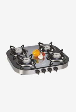 Glen GL 1046 GT 4 Burner Gas Stove (Black)