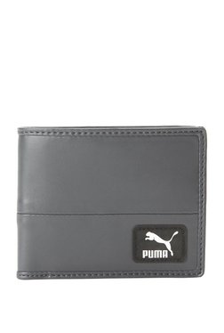Puma Originals Asphalt Grey Solid Bi-Fold Wallet