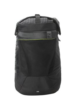f701f71b9b1b Puma Urban Training Black Chequered Polyester Laptop Backpack