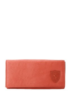 Puma SF LS Red Solid Flap Wallet