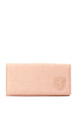 Puma Ferrari LS Peach Solid Polyester Flap Wallet