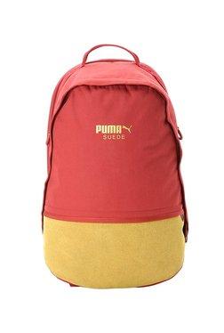 b4531bf6 Puma Red Dahlia & Mango Yellow Color Block Laptop Backpack