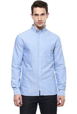 Celio* Light Blue Cotton Full Sleeves Shirt