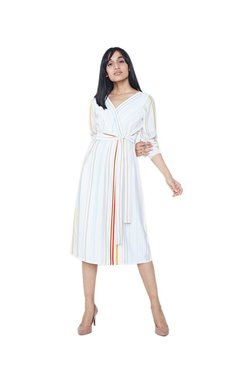AND Off White Striped Dress
