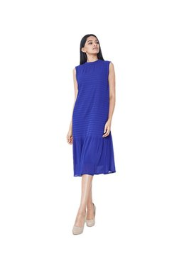 AND Royal Blue Striped Dress