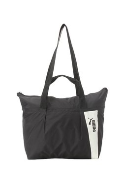 Puma Core Style Black & White Solid Polyester Tote
