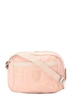 Puma Ferrari LS Peach Solid Polyester Sling Bag