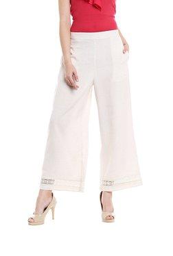Fusion Beats Off  White Regular Fit Pants