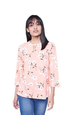 AND Pink Floral Print Top