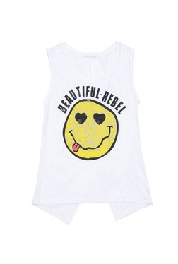 Gas White Printed Top ETNY TOP SMILE