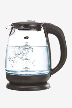 Glen GL 9012 1.7L 2000 W Electric Glass Kettle (Black)