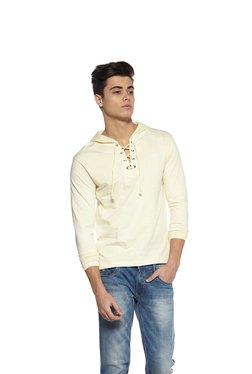 Zudio Beige With Hood Slim Fit T-Shirt
