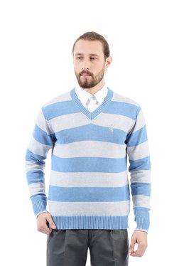 Arrow Sport Blue & White Regular Fit Sweater