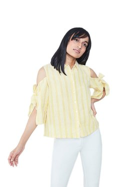 AND Yellow Striped Shirt