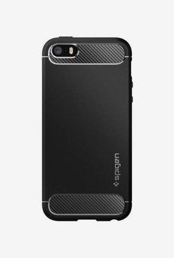 Spigen Rugged Armor Case (Black) For Apple IPhone 5/5s/SE