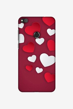 Amzer Red & White Hearts Designer Case For Huawei P8 Lite 2017