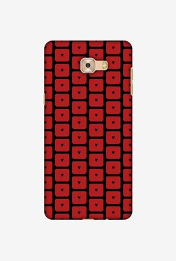 Amzer Small Hearts Pattern Designer Case For Samsung Galaxy C7 Pro