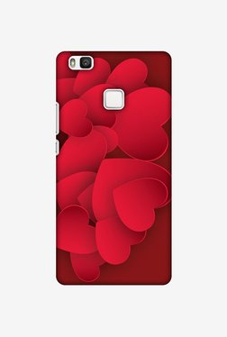 Amzer Red Hearts Designer Case For Huawei P9 Lite