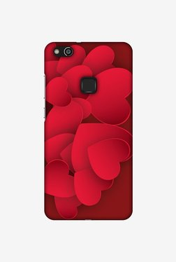 Amzer Red Hearts Designer Case For Huawei P10 Lite