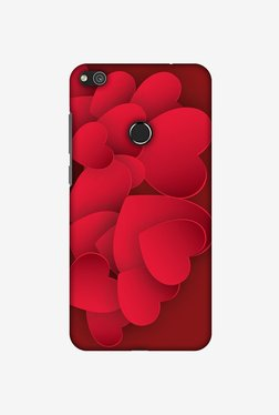 Amzer Red Hearts Designer Case For Huawei P8 Lite 2017