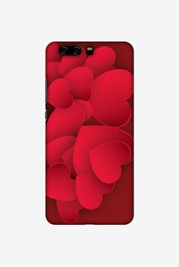 Amzer Red Hearts Designer Case For Huawei P10 Plus