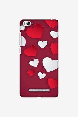 Amzer Red & White Hearts Designer Case For Mi 4i