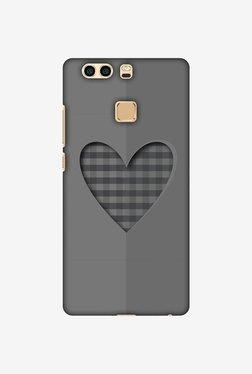 Amzer Grey Heart Designer Case For Huawei P9 Plus