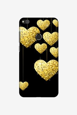 Amzer Golden Hanging Hearts Designer Case For Huawei P8 Lite 2017