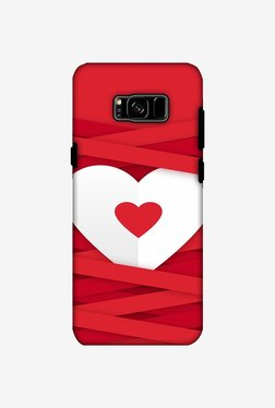 Amzer Heart In Ribbons Hybrid Dual Layer Designer Case For Samsung Galaxy S8 Plus
