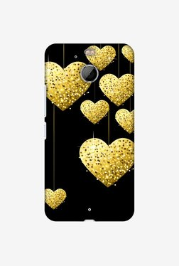 Amzer Golden Hanging Hearts Designer Case For HTC Bolt/10 Evo