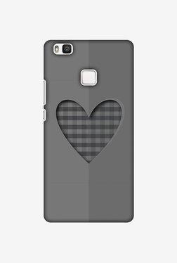 Amzer Grey Heart Designer Case For Huawei P9 Lite