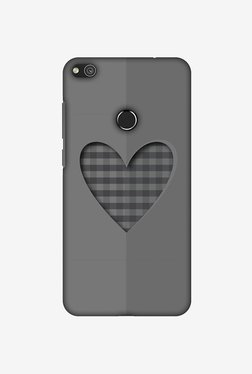 Amzer Grey Heart Designer Case For Huawei P8 Lite 2017