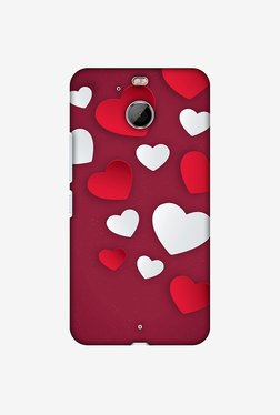 Amzer Red & White Hearts Designer Case For HTC Bolt/10 Evo