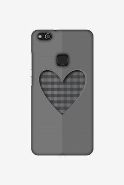 Amzer Grey Heart Designer Case For Huawei P10 Lite
